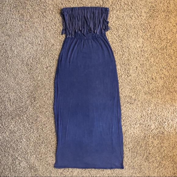 6b72c7997d5 Charlotte Russe Dresses   Skirts - Strapless Fringe Maxi Dress